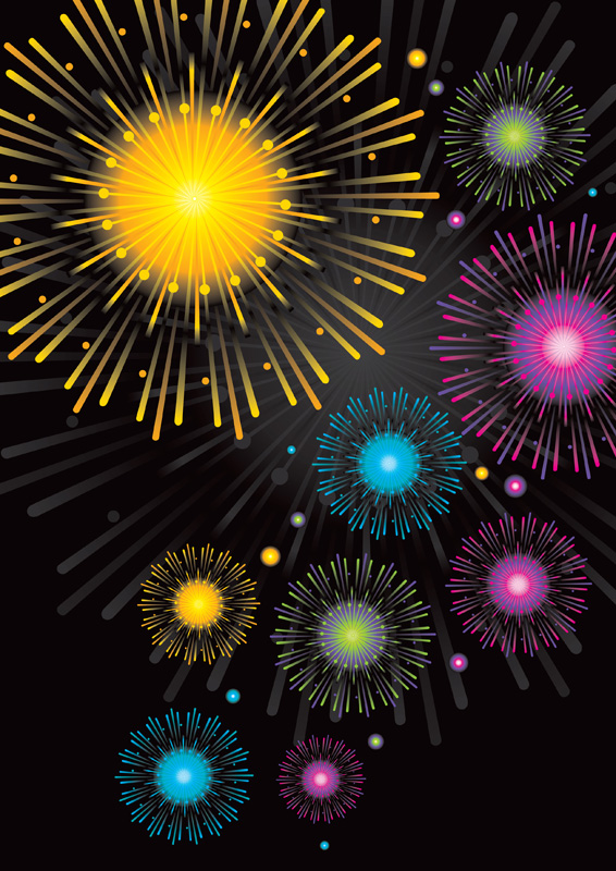 fireworks | free poster templates & backgrounds, Presentation templates