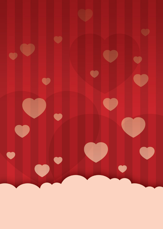 Valentine's day love heart poster background | Free Poster Templates ...