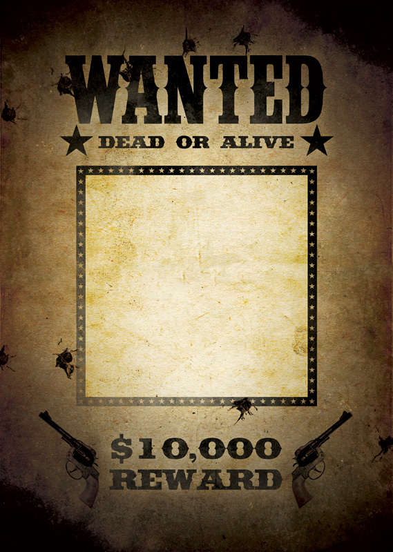 Wanted template free toneelgroepblik Image collections