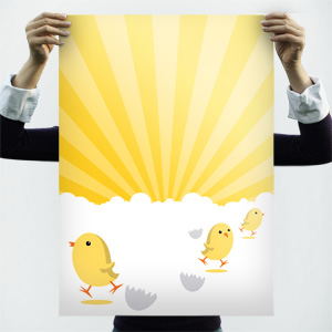 Easter chicks poster background - Free Poster Templates