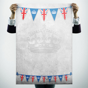 Jubilee flags poster background - Free Poster Templates