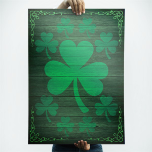 St Patricks Day poster background