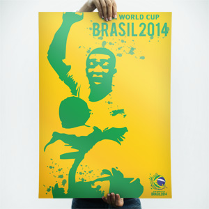 World Cup Brazil 2014 poster background